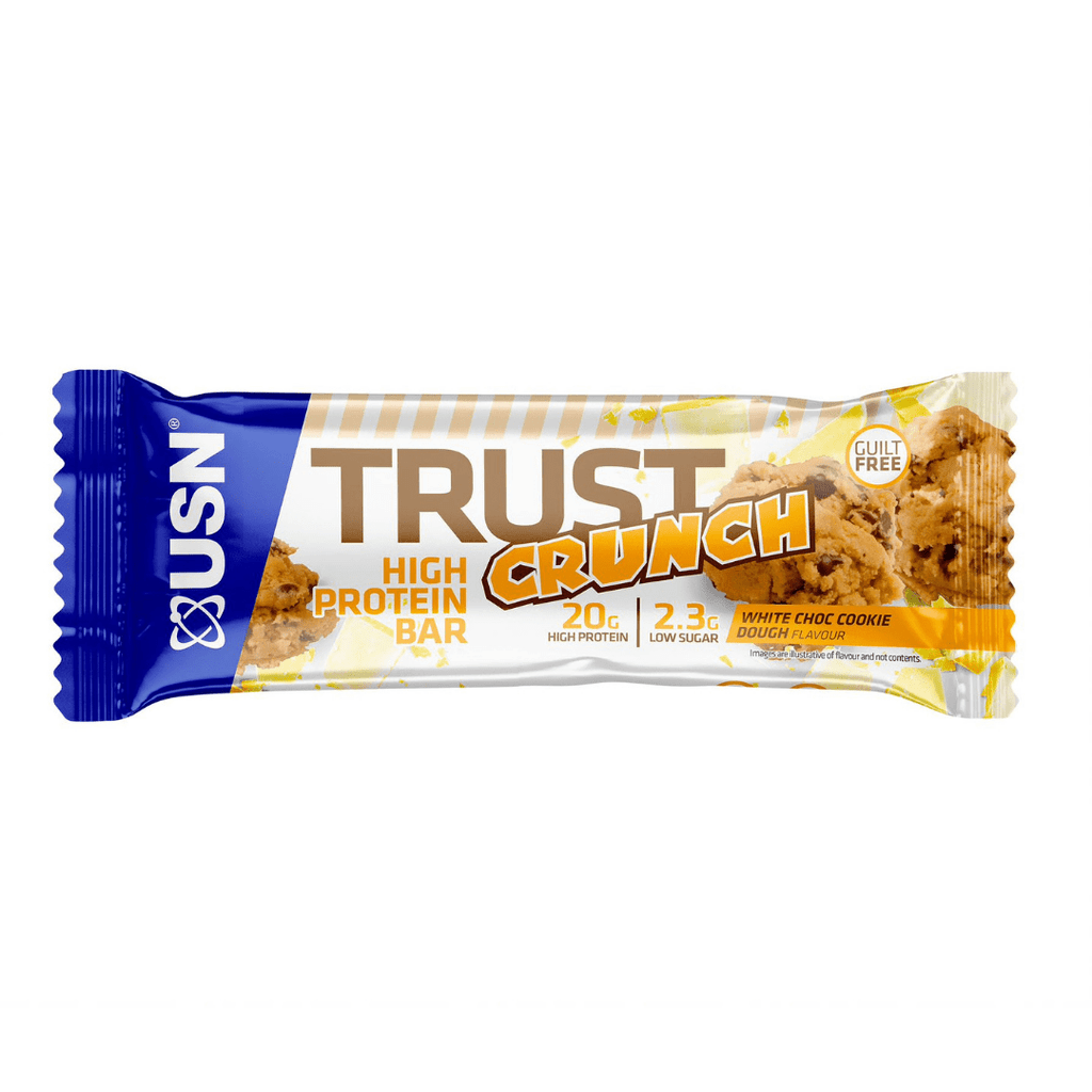 USN Trust Crunch Protein Bar White Chocolate Cookie Dough, Protein Bars, USN, Protein Package Protein Package Pick and Mix Protein UK
