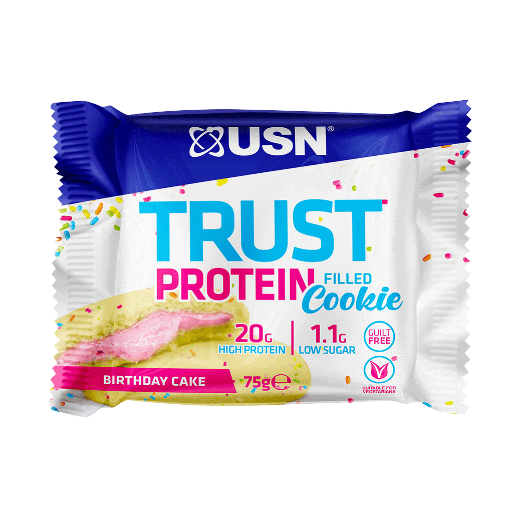 USN Trust Protein Filled Cookie Birthday Cake, Protein Cookies, USN, Protein Package Protein Package Pick and Mix Protein UK