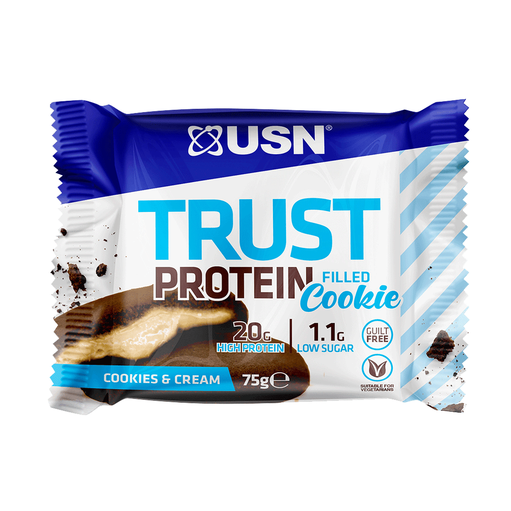 USN Trust Protein Filled Cookie Cookies & Cream, Protein Cookies, USN, Protein Package Protein Package Pick and Mix Protein UK
