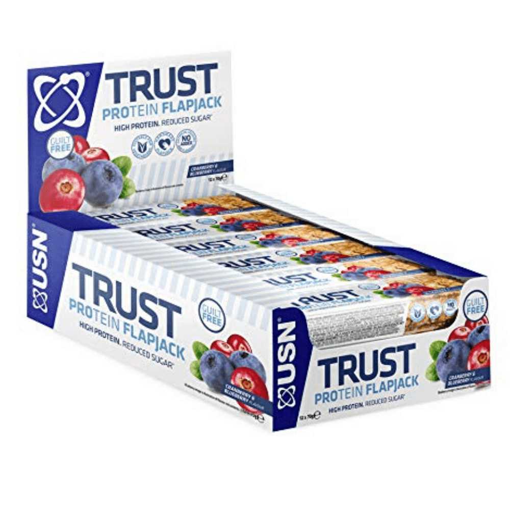 USN Trust Protein Flapjack Box (12 Flapjacks), Protein Flapjacks, USN, Protein Package Protein Package Pick and Mix Protein UK