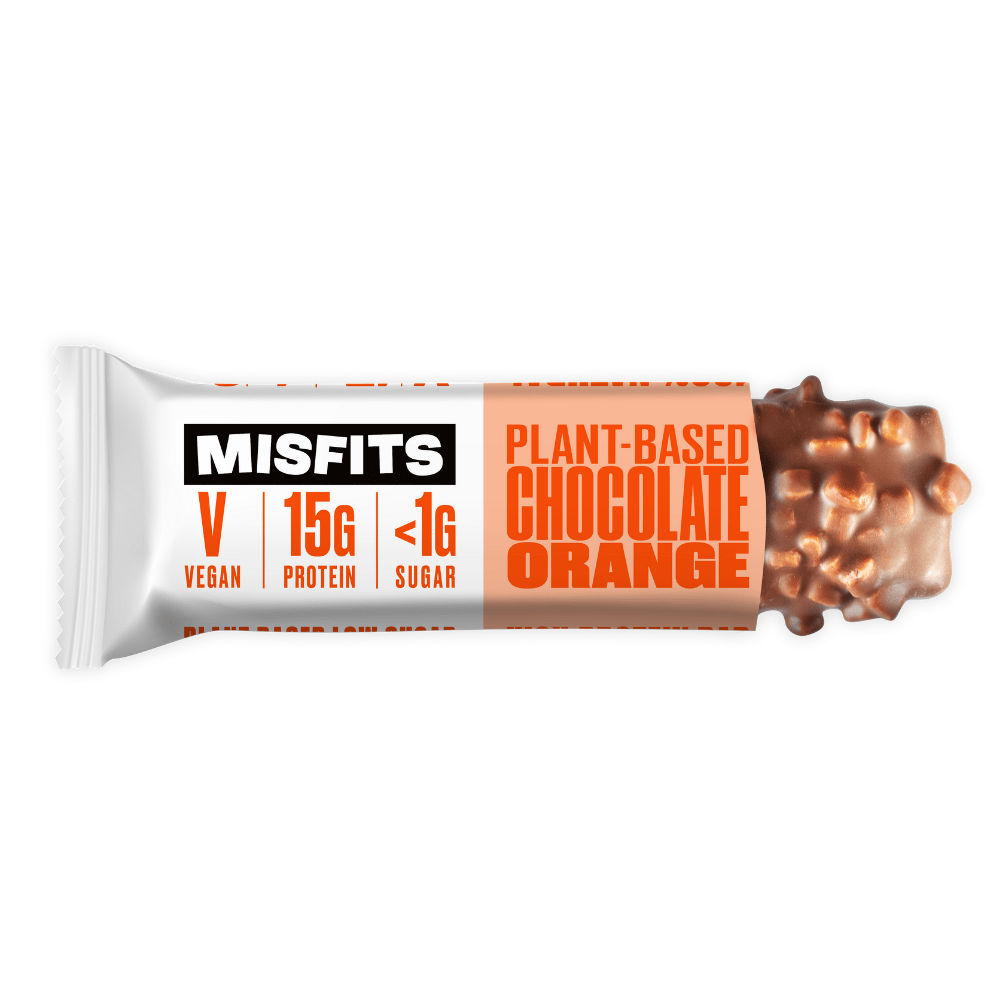 Misfits Vegan Protein Bar Chocolate Orange, Protein Bars, Misfits Health, Protein Package Protein Package Pick and Mix Protein UK