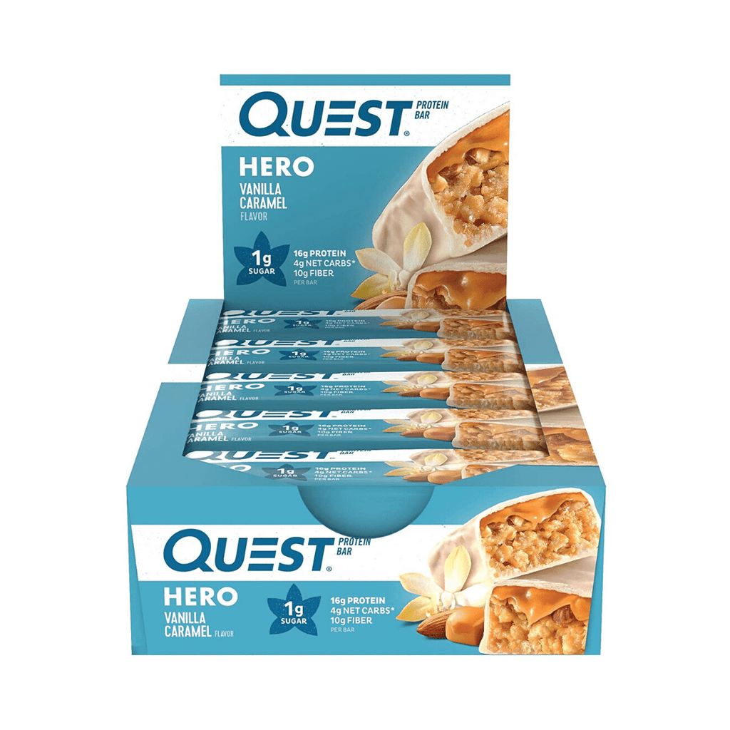 Quest Nutrition USA Hero Protein Bar Vanilla Caramel, Protein Bars, Quest Nutrition, Protein Package Protein Package Pick and Mix Protein UK