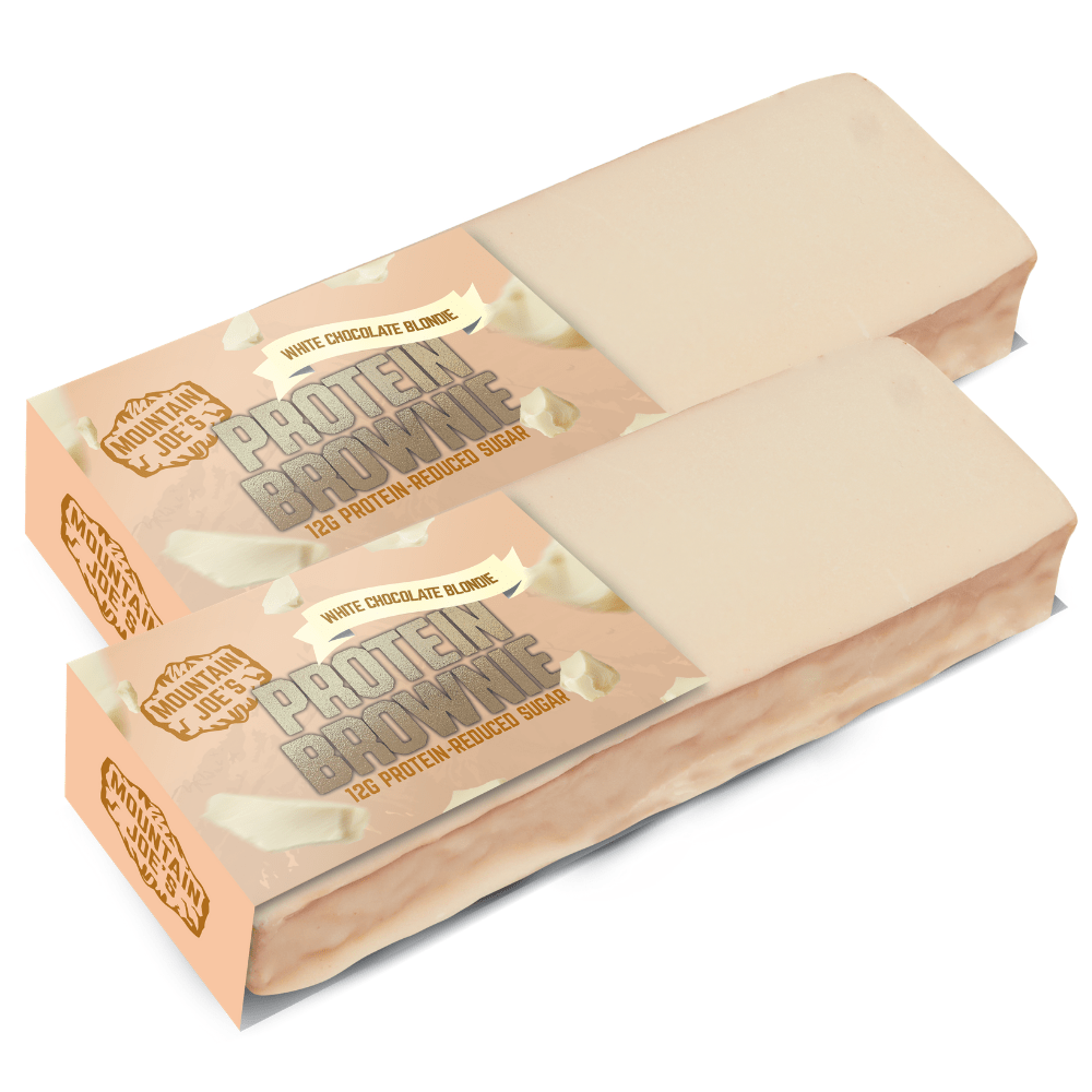 Boxes of Mountain Joes White Chocolate Blondie Brownies UK 12x60g Boxes