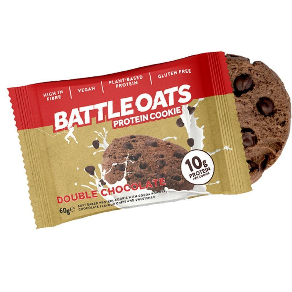 Battle Oats Protein Cookie Double Chocolate, Protein Cookie, Battle Snacks, Protein Package Protein Package Pick and Mix Protein UK