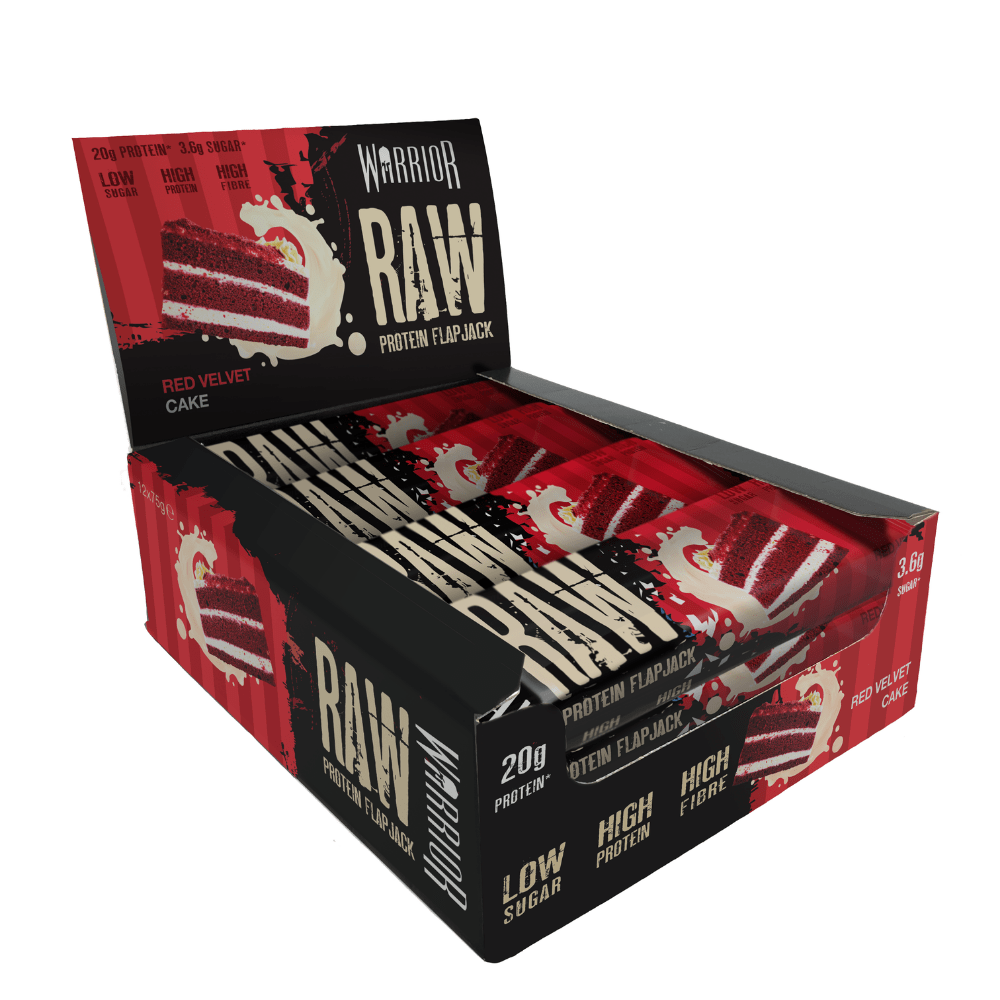 Warrior Raw Protein Flapjack Box (12 Flapjacks), Protein Flapjacks, Warrior, Protein Package Protein Package Pick and Mix Protein UK