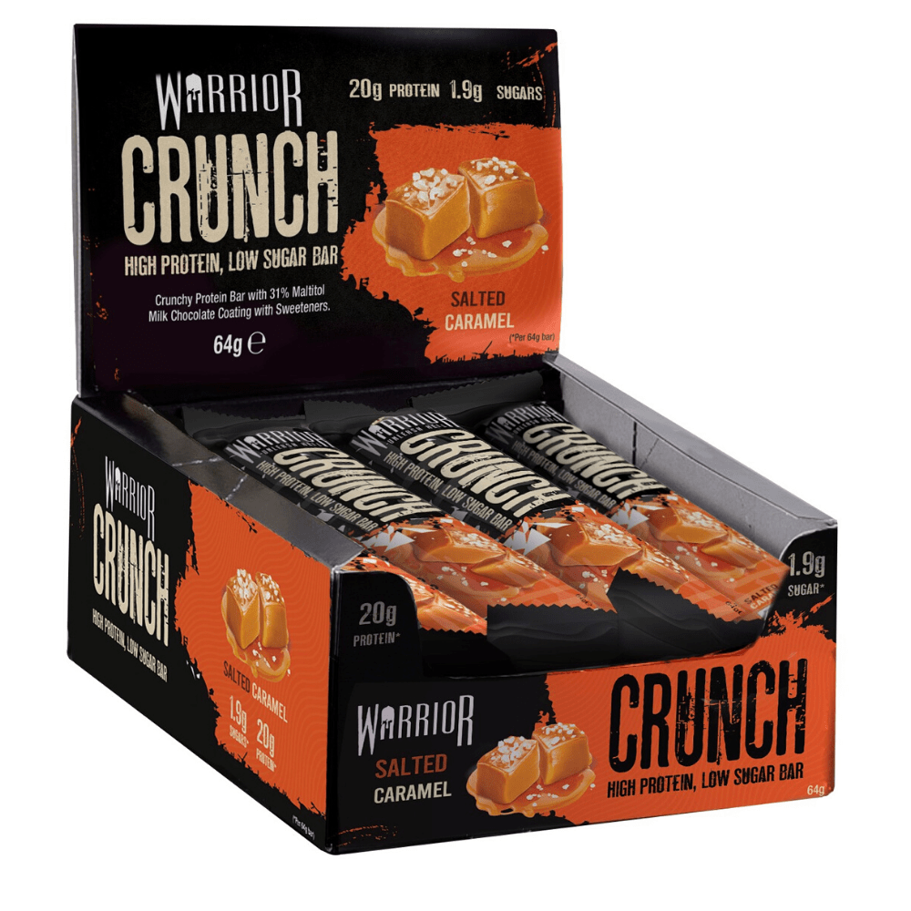 Warrior Crunch Protein Bar Salted Caramel, Protein Bars, Warrior, Protein Package Protein Package Pick and Mix Protein UK