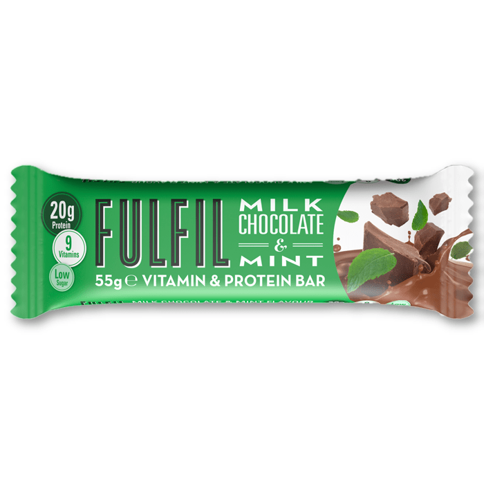 Fulfil Nutrition Vitamin & Protein Bar Milk Chocolate Mint - Protein Package