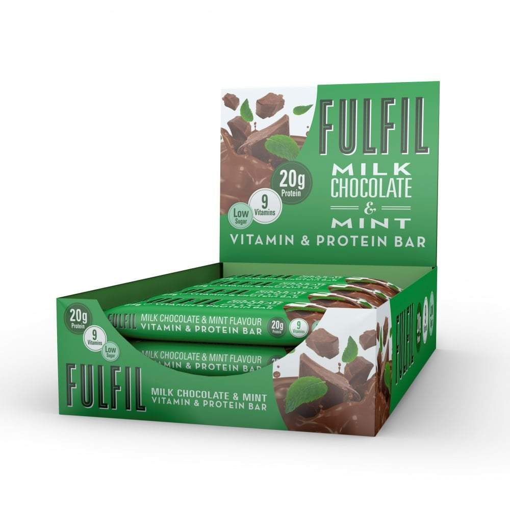 Fulfil Nutrition Vitamin & Protein Bar Milk Chocolate Mint, Protein Bars, Fulfil Nutrition, Protein Package Protein Package Pick and Mix Protein UK