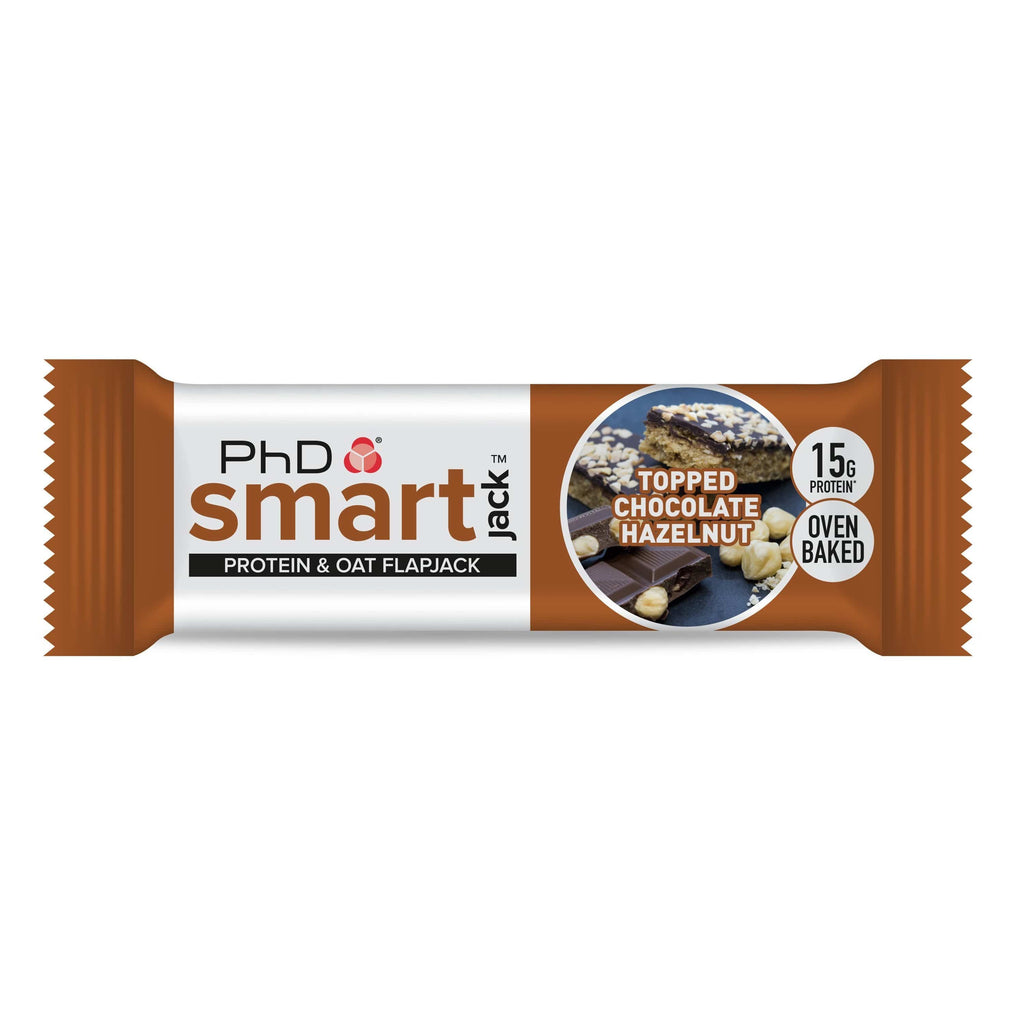 PhD Nutrition SMART Protein Jack Topped Chocolate Hazelnut, Protein Flapjack, PhD, Protein Package Protein Package Pick and Mix Protein UK