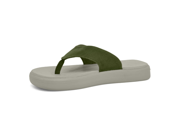 SoftScience Skiff Flip Flop Canvas Sage