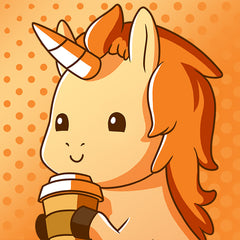 Unstable Unicorns | Pumpkin Spice Basic Unicorn Mobile Wallpaper
