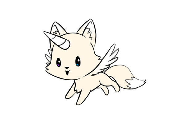 Foxicorn with wings