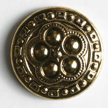 Antique Gold Plated Polyamide Button