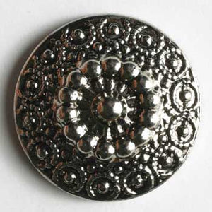 Antique Silver Polyamide Button