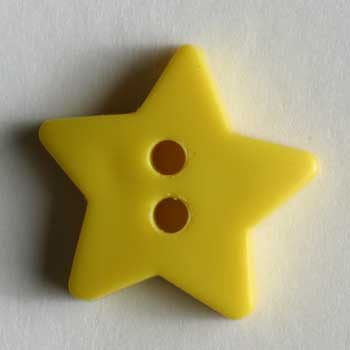 Yellow Star Polyamide Button
