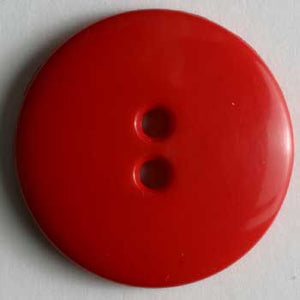 Red Polyamide Button