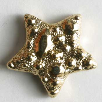 Gold Plated Star Polyamide Button