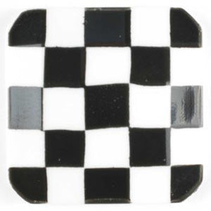 White and Black Checkerboard Polyamide Button