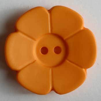 Orange Flower Polyamide Button