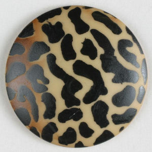 Animal Print Polyamide Button