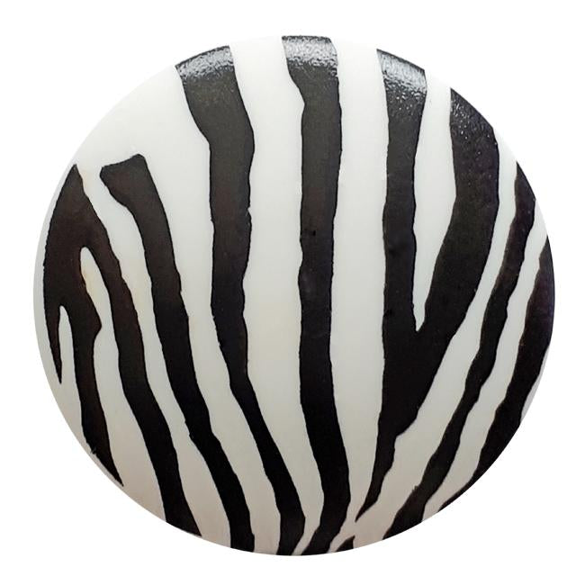 Zebra Stripe Polyamide Button