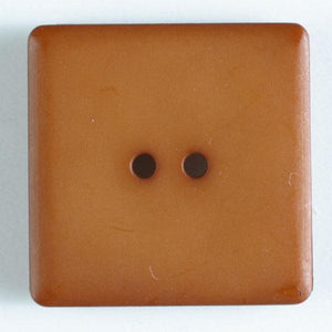 Brown Square Polyamide Button