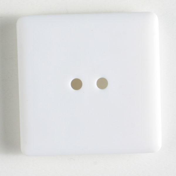 White Square Polyamide Button