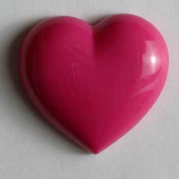 Pink Heart Novelty Button