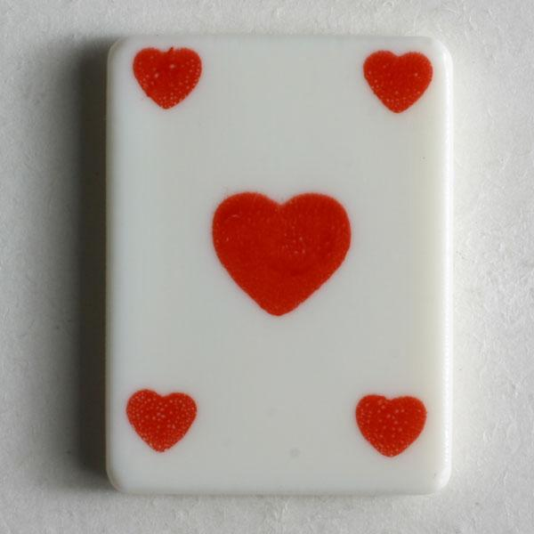Hearts Playing Card Novelty Button