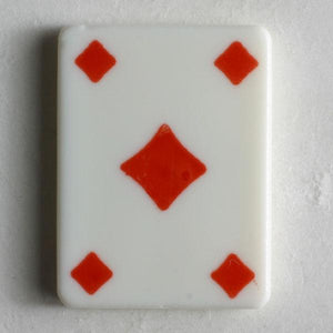 Diamonds Playing Card Novelty Button