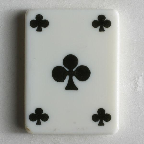 Clubs Playing Card Novelty Button