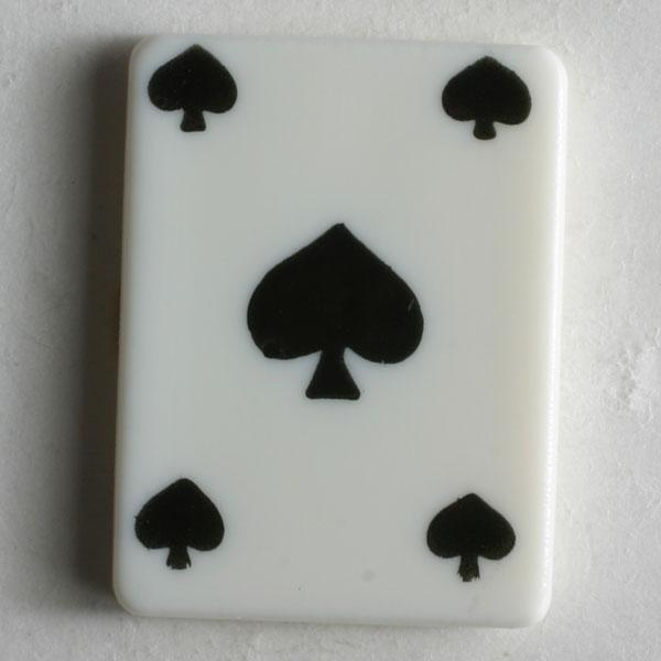 Spades Playing Card Novelty Button