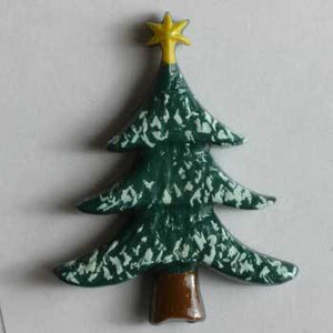 Christmas Tree Novelty Button