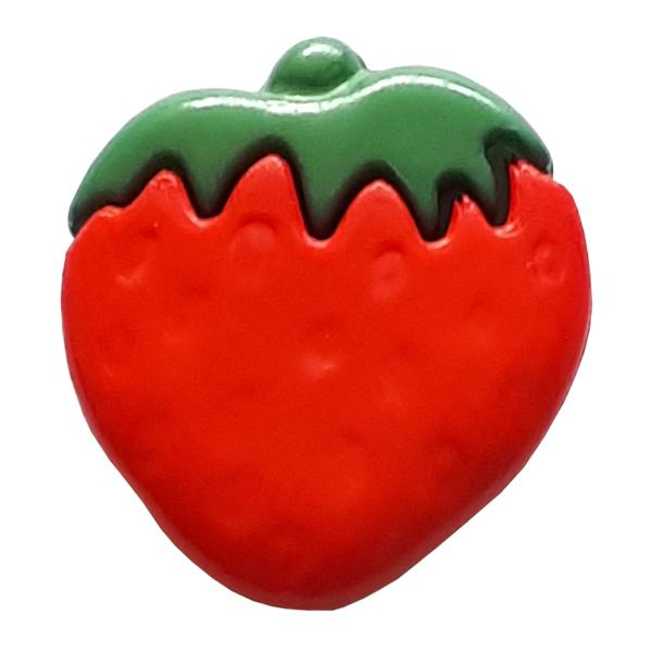 Red Strawberry Novelty Button