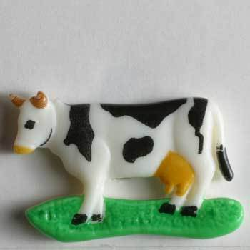 Cow Novelty Button