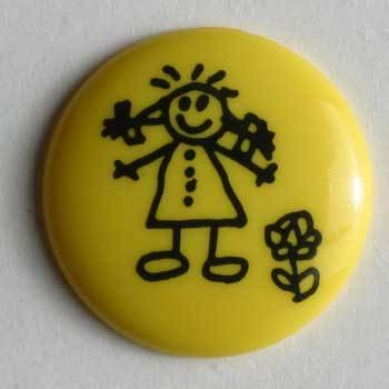 Yellow Novelty Button