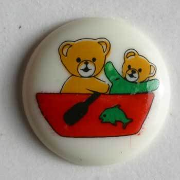 Fishing Bears Novelty Button