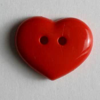 Red Heart Novelty Button