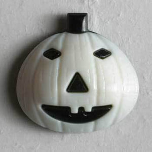 White Pumpkin Novelty Button