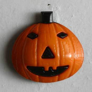 Jack o Lantern Pumpkin Novelty Button