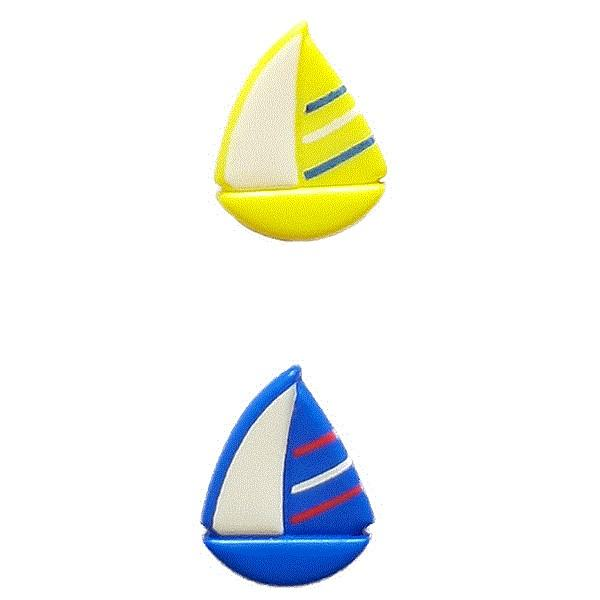 Sail Boat Novelty Button