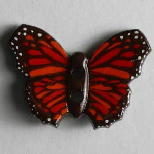 Red Butterfly Novelty Button
