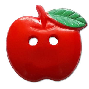 Red Apple Novelty Button