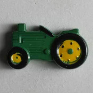 Green Tractor Novelty Button
