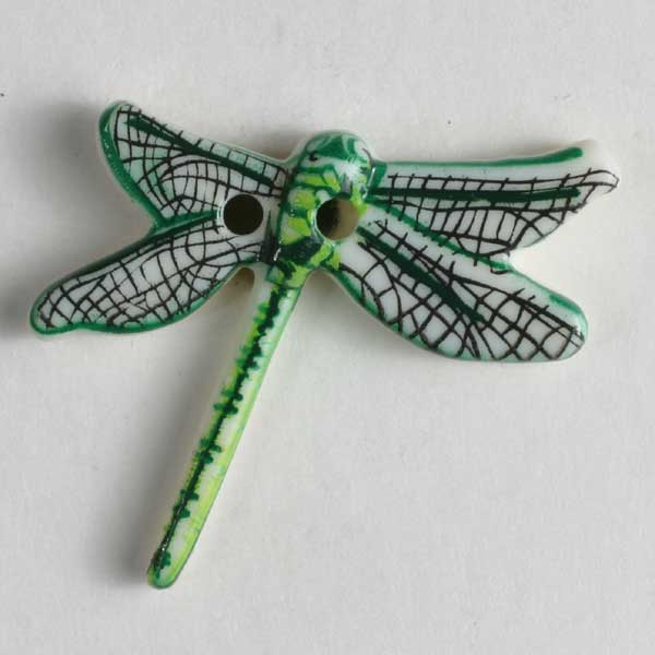 Dragonfly Novelty Button