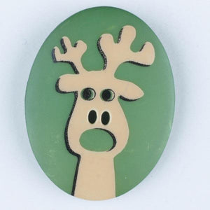 Reindeer Novelty Button