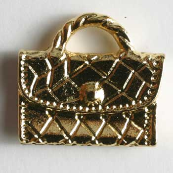 Gold Plated Purse Polyamide Button