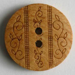 Brown Wood Button