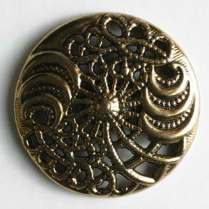 Antique Gold Plated Full Metal Button