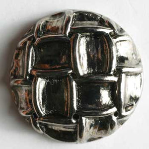 Antique Silver Full Metal Button
